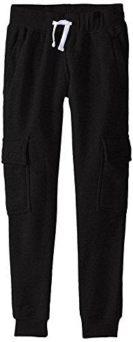 Southpole Boys' Big Active Basic Jogger Fleece Pants, Black(Cargo), X-Large / 18-20