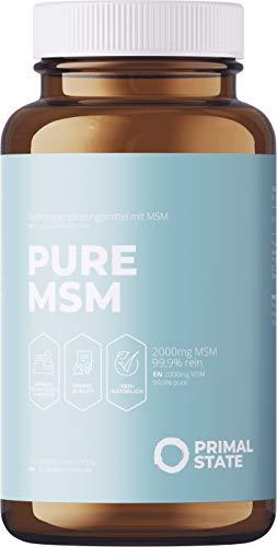 MSM Tabletten - 2000mg Methylsulfonylmethan (MSM) Pulver pro Tagesdosis - 180 vegane Tabletten - Laborgeprüft - Ohne Magnesiumstearat, hochdosiert, hergestellt in Deutschland