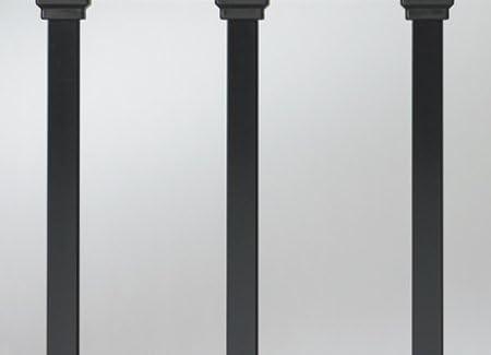 "Estate 26"" Square Baluster Black 100 Super beauty product restock quality top! Pk. Deckorators 158 Indefinitely"