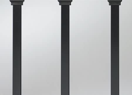 Deckorators 2-in-1 Classic Round Black Baluster Connectors 20 Pack Stair Rails