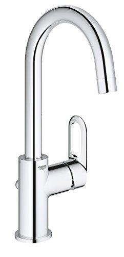 GROHE BauLoop | Badarmatur - Einhand-Waschtischbatterie, L-Size, mit Keramikkartusche | chrom | 23763000