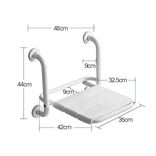 ZYXWZ Elderly Safety Non-Slip Wall Stool, Barrier Free Shower Stool Bathroom Seat Assisted Folding Seat for Elderly, Assistance