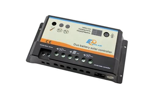 Controlador solar para dos baterías 20A, 12/24V