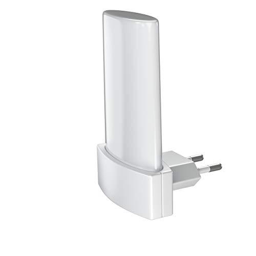 LEDVANCE LED Nachtlicht, Leuchte für Innenanwendungen, Tag-Nacht-Sensor, Warmweiß, 60,0 mm x 60,0 mm x 90,0 mm, LUNETTA Shine