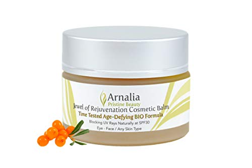 ARNALIA 100% Natural & Organic Wild Herbs, Eye&Face Cosmetic Skin Care Cream, Emollient, Anti Wrinkle, Anti Aging, Age Spot, Firming, Hydrating Balm, Collagen, Vitamin A,C,E,F Moisturizer, SPF 1.1oz