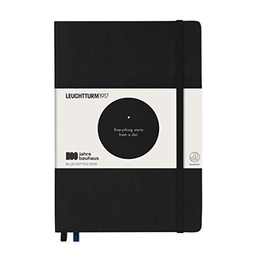 LEUCHTTURM1917 359617 Libreta de notas Medium (A5) Bauhaus 100, tapas duras, 251 páginas numeradas, negro