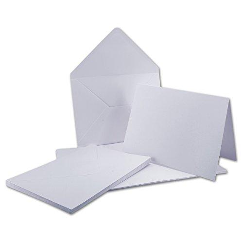 A5 Doppelkarten inklusive Briefumschläge - 25er-Set - Blanko weiße Einladungskarten in Hochweiß - Post-Karten in DIN A5 - Gustav NEUSER C-Line