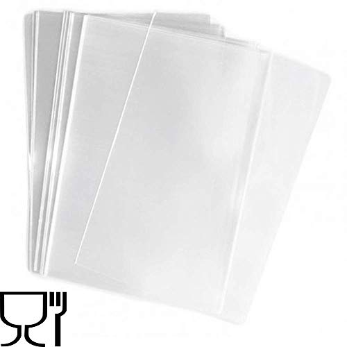 PuntoCasaStore Buste Trasparenti Sacchetti per Alimenti 100 pz 15x25 cm