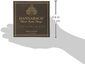 Blue Hannabach 652697 Series 728 Custom Made High Tension String Set for Classic Guitar