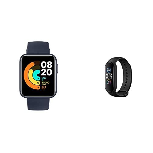 Xiaomi Mi Watch Lite Orologio Smart, Display Lcd Tft 1.4'', Fino A 9 Giorni Di Autonomia & Band 5 Orologio Fitness Tracker Uomo Donna Cardiofrequenzimetro Da Polso Contapassi Smartband