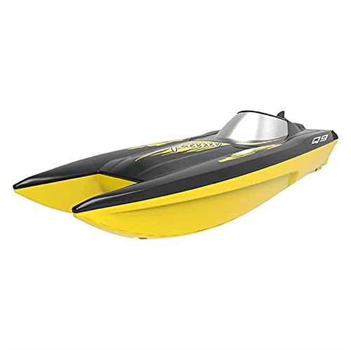 WGLL RC Boat for Kids, Q9 Toold Mentrent Boat for Pool and Lago con lancha rápida de 2,4 GHz 10km / h, doble potencia, recordatorio de batería baja, Barco de velocidad de control remoto Regalos de jug
