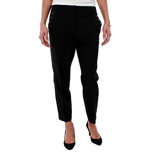 Vero Moda Pantalón Recto Tachuelas (Negro - 38) (Ropa)