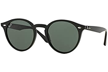 Ray-Ban RB2180 Unisex Round Sunglasses  Black Frame/Grey Black Size Medium