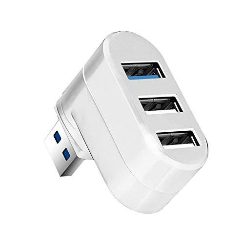 Kurphy para Pc Laptop USB Hub 3/6 Port USB Hub 3.0 Alta Velocidad Multi-Hub USB Splitter 2.0 Hab 1 Adaptador múltiple USB 3.0 Lector de Tarjetas
