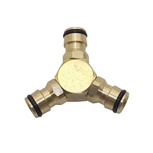 PVC grifo Conector Invernadero Jardín Y Conector de agua de riego por goteo de cobre de 16 mm Conjunto Primavera Conectores de tubos de jardín Accesorios 10 piezas (Color : Green, Diameter : 1/2'')