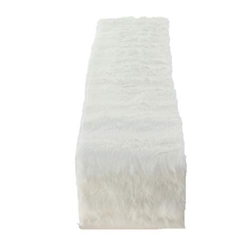 Unbekannt 1x Tischläufer Felly Fell Länge 120 cm weiß, Tischdeko, Geschenk, Wunschmodell:Links