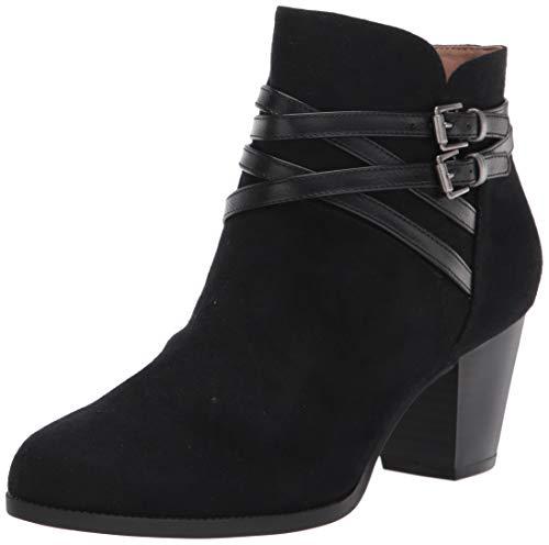 LifeStride Women's Jezebel Ankle Boot, Black, 8.5 W US