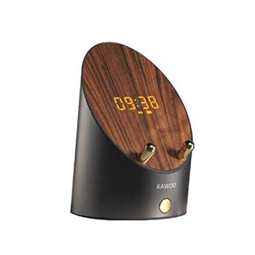 Sensor + Altavoz Bluetooth de Modo Dual, Mini Altavoz inalámbrico portátil del Bluetooth del subwoofer J600, Reloj electronico Soporte para teléfono, Adecuado para Sala de Estar, Dormitorio, Oficina.