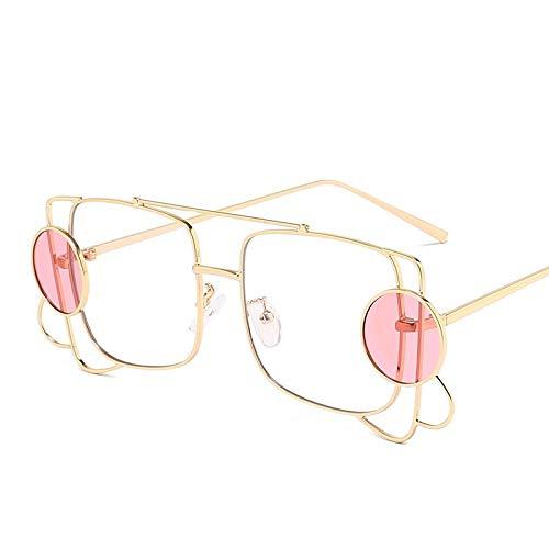TYJYY Gafas de sol cuadradas 2019 para mujer, de lujo, marco irregular, círculo pequeño, gafas de sol para hombres y mujeres, gafas transparentes, Uv400Fashion cuadradas, de lujo, montura irregular, pequeñas gafas de sol para hombres y mujeres, gafas transparentes Uv400