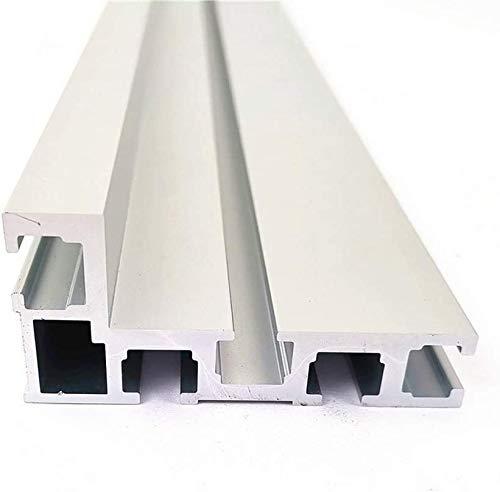 T-Slot Miter Track 75 typ 600 mm, T-spår aluminium träbearbetning baksida bordssåg för träbearbetningsarbetsbänk, DIY T-spår