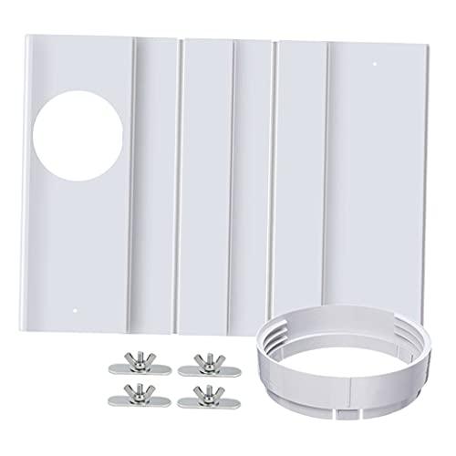 H HILABEE Kit di Sigillatura per Finestre Universale Kit di Sfiato AC per Condizionatore d'Aria per Condotti da 5,9 Pollici