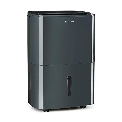Klarstein DryFy20 Deshumidificador de Aire - Secadora de reformas , 420 W , 20 L/día , Espacio Ideal: 40-50 m² , Filtro Nylon , DrySelect , Modo silencioso , 45 dB , Antracita
