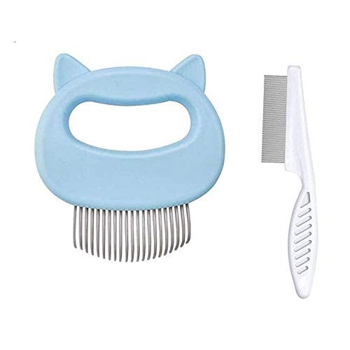 MEISHANG Katzenbürste Weiches Silikon Massagebürste,Katzenkämme Haustierbürste,Massagekamm für Haustier Katzen,Haustier Massagebürste Katze Hund,Bürste Katzenkamm