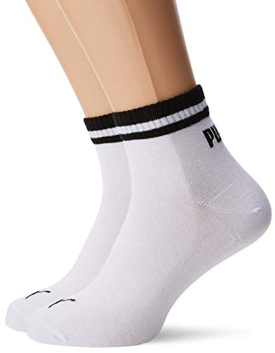 PUMA Heritage Quarter 2p Sport, Bianco (White 300), 43/46 (Taglia Produttore: 043) (Pacco da 2) Uomo