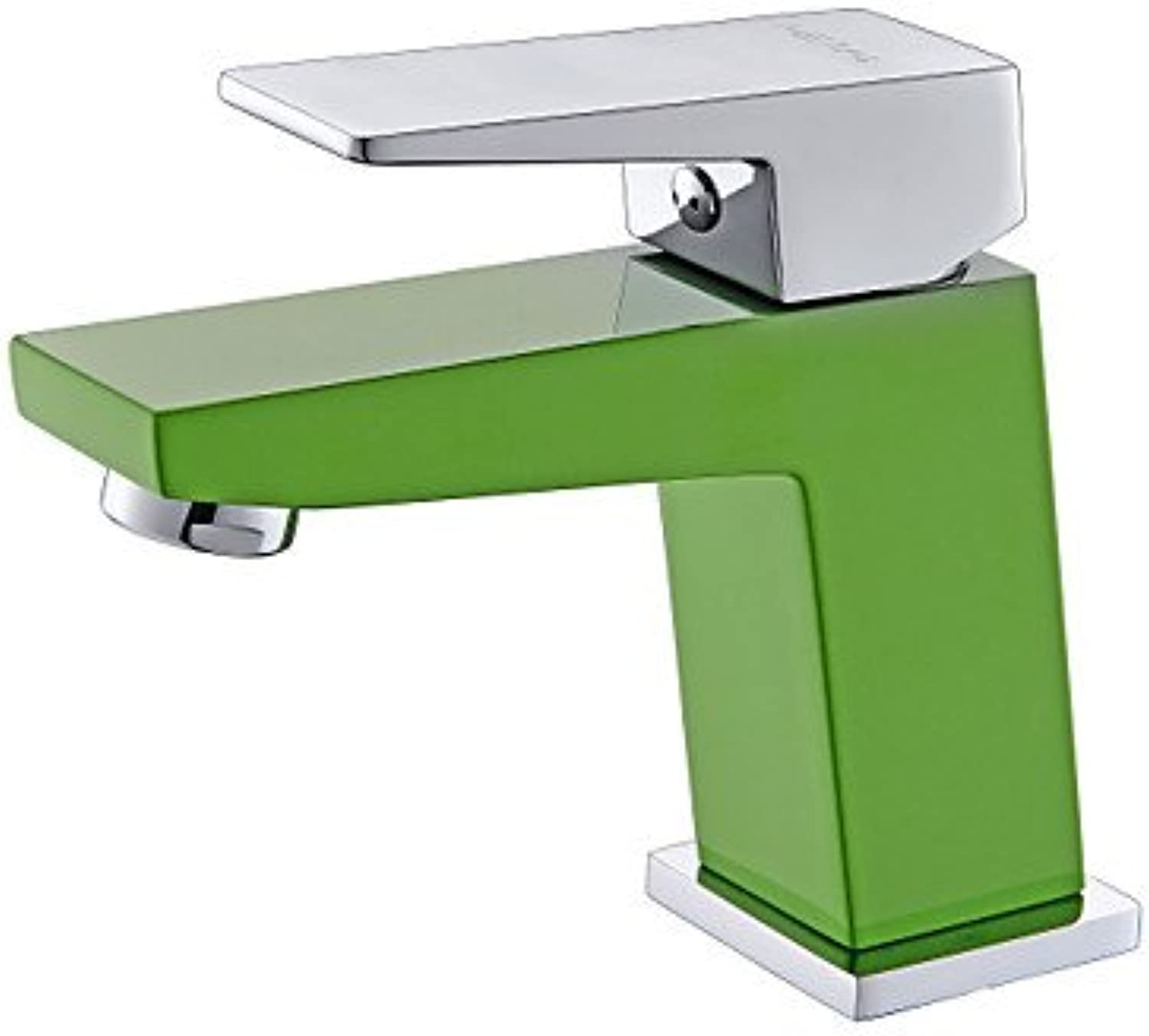 HFaucet? Contemporary Green A Grade ABS Plastice One Hole Single Handle Brass Bathroom Sink tap