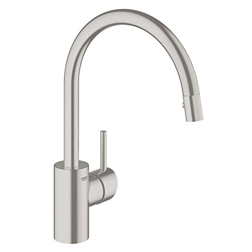 Grohe 32665DC1 Concetto Single-Handle Pull-Down High Arc Kitchen Faucet