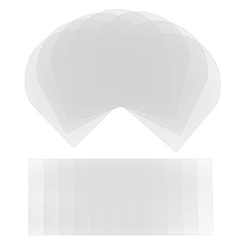 Matogle 20 Juegos de Protectores de Discos de Vinilo Funda Protectora de Polipropileno para Guardar Discos Bolsa de Almacenamiento Transparente para DVD en La Oficina