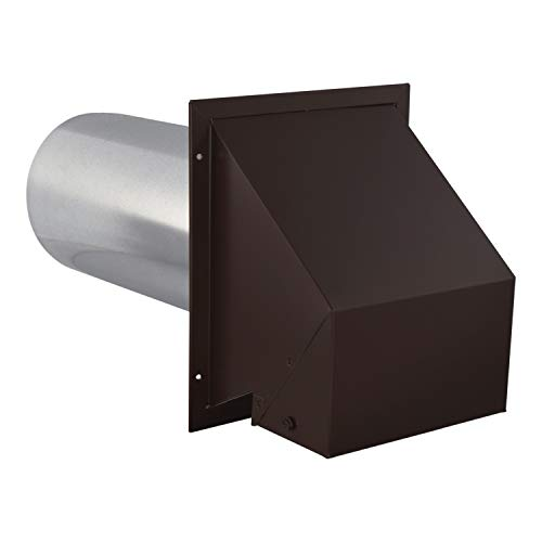 Imperial VT0611 6-Inch Heavy-Duty Outdoor Exhaust Vent, with Intake Hood Conversion, 1-Pack, Brown
