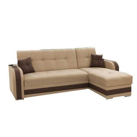 MOEBLO Ecksofa mit Schlaffunktion mit Bettkasten Sofa Couch L-Form Polstergarnitur Wohnlandschaft Polstersofa mit Ottomane Couchgranitur - AIGO...