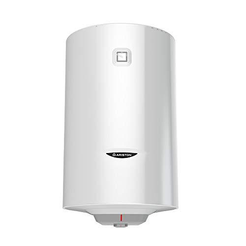 Ariston - Calentador de agua electrico de pared termoelectrico 80 l de acumulacion PRO1 R con casquillo izquierdo vertical, color blanco