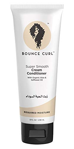 Bounce Curl Super Smooth Cream Conditioner   Curly Hair Conditioner   With Organic Aloe & Sunflower Oil   238ml