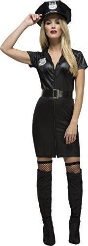 Fever, Damen Korrupte Polizistin Kostüm, Kleid, Gürtel und Mütze, Größe: XS, 31901
