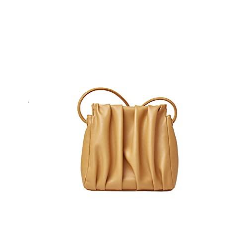 YXLYLL Bolsa de axila de Moda y Simple, Mensajero de Hombro, Bolso de Nube de Color sólido. Khaki-Small