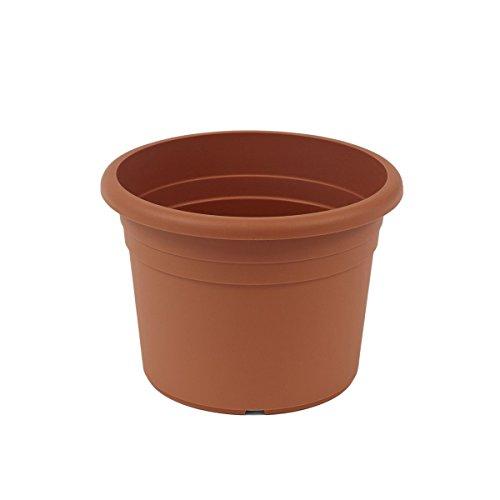 fioriera greemotion Fiona, fioriera in plastica resistente ai raggi UV, fioriera con fori inferiori, volume circa 18 l, circa Ø 40 x H 26 cm