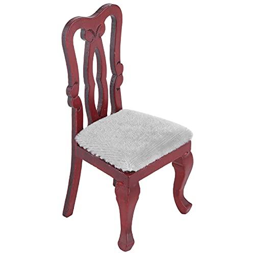 Silla de casa de muñecas 1:12, silla de muebles en miniatura, silla de casa de muñecas de simulación, modelo de muebles, accesorios de juego de simulación