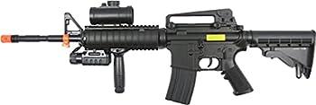 Double Eagle m83a2 m16 Electric Airsoft Gun Full auto fps-250 w/Flashlight foregrip red dot Scope Silencer Airsoft Gun