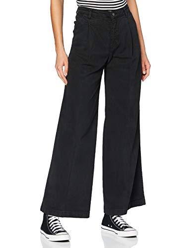 Sisley Trousers Pantaloni, Schwarz 100, 33 Donna