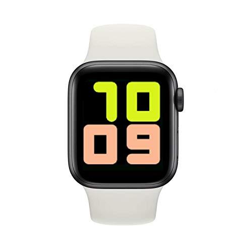 XINZIDAI Reloj Inteligente Bluetooth Rastreador De Ejercicios T500 Monitor De Frecuencia Cardíaca a Prueba De Agua para Hombres Mujeres Compatible con iOS Android Blanco