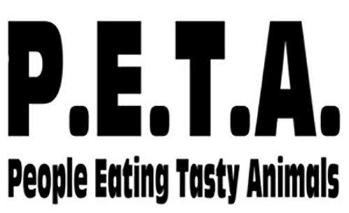 PotteLove PETA Decal Vinyl Sticker Decorative for Laptop Fridge Guitar Car Motorcycle Helmet Luggage Cases Decor 10 Inch in Width