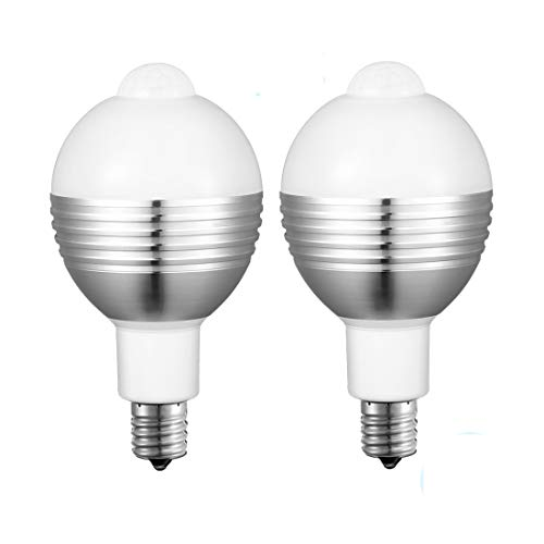 LED電球 センサー 人感センサーライト E17口金 7W 50W形相当 昼白色 最新版 自動点灯/消灯 6000K 650lm 高輝度 節電 赤外線センサーライト?廊下/玄関/洗面所/階段/室内 日本語取扱付属 2個セット Mersuii