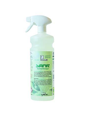 Sanit Bio Sanitär Reiniger | kraftvoller Hygiene Reiniger für den gesamten Sanitär und Nassbereich | 100% der Inhaltsstoffe sind natürlichen Ursprungs | Bio Reiniger 3361