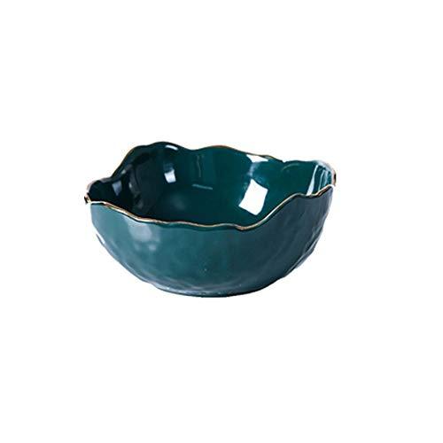 Yjdr Keramik Kreative Obstteller Obstteller Startseite Keramik Salatschüssel kreativer Süßigkeit Dessertschale Dessertschale Obstschale (Color : Medium)