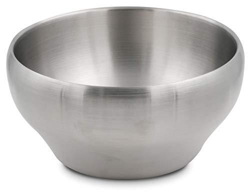 Edelstahl-Schüssel, doppelwandig, vakuumisoliert, 61 ml, perfekte Schüsseln zum Servieren von Eis oder heiße Suppe (Edelstahl) edelstahl