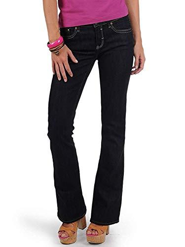 Mavi Damen Jeans Flare; 1013613128 Mid Rise, Boot Cut, Rynse Uptown Gr. 30/34
