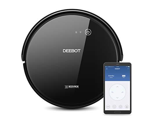 ECOVACS Robotics DEEBOT 601 - Leistungsstarker Saugroboter mit Smart Home Konnektivität und MAX-Modus, Systematische Reinigung auf Hartböden, Schwarz