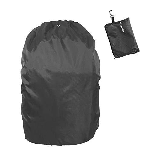Universal Regenschutz Rucksack für 35 bis 55 Liter Wasserdicht Regenhülle gegen Regen und Schnee für Outdoor Aktivitäten Schwarz